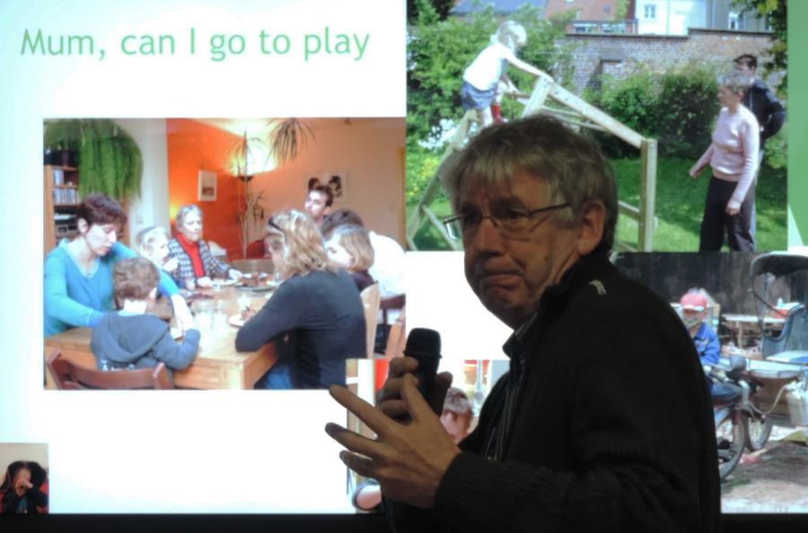 Jan van Gils poses a question at the IPA Scotland symposium