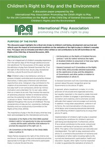Children's Right to Play and the Environment - IPA Discussion Paper for UNCRC Day of Discussion 2016